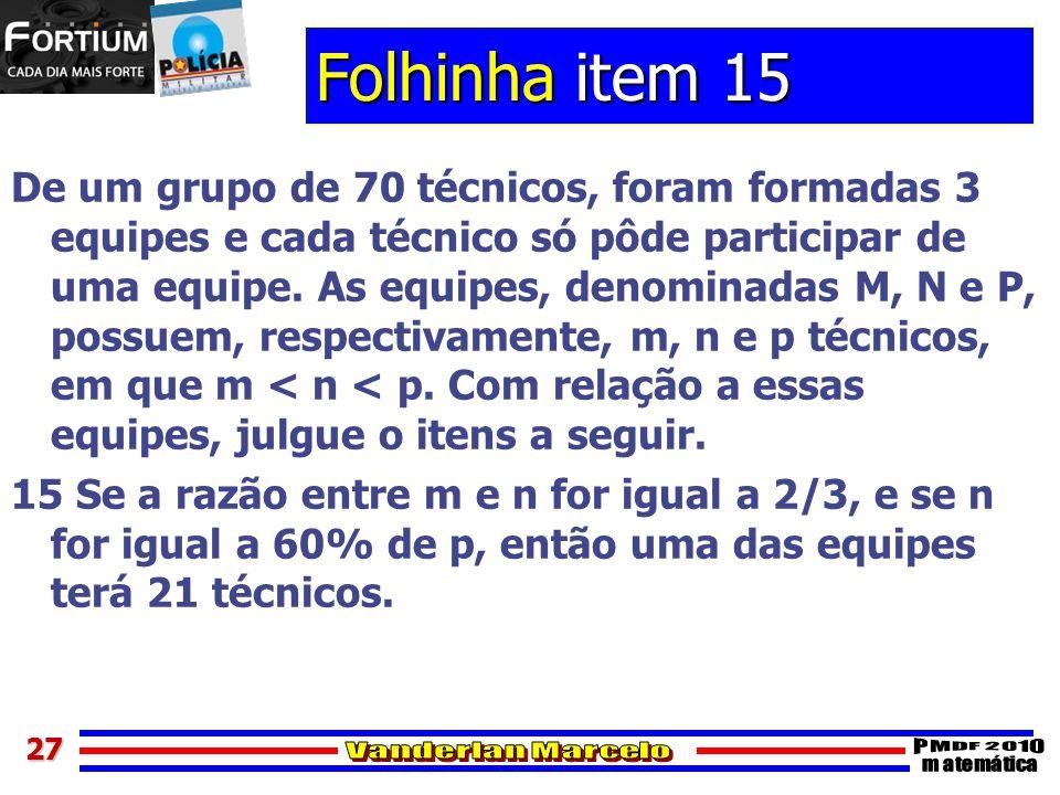 Folhinha item 15