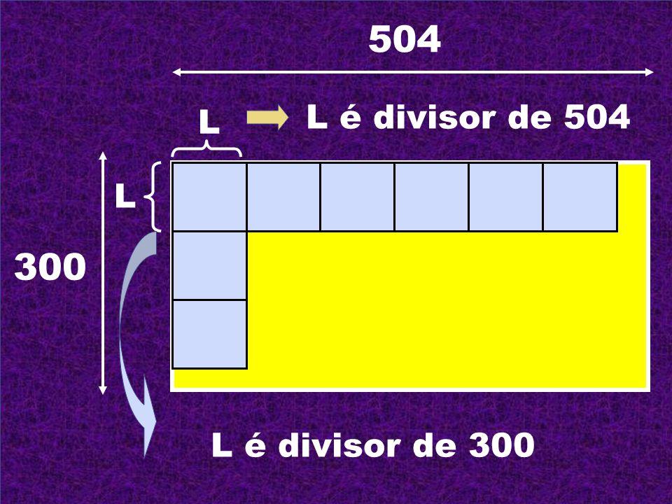 504 L é divisor de 504 L L 300 L é divisor de 300