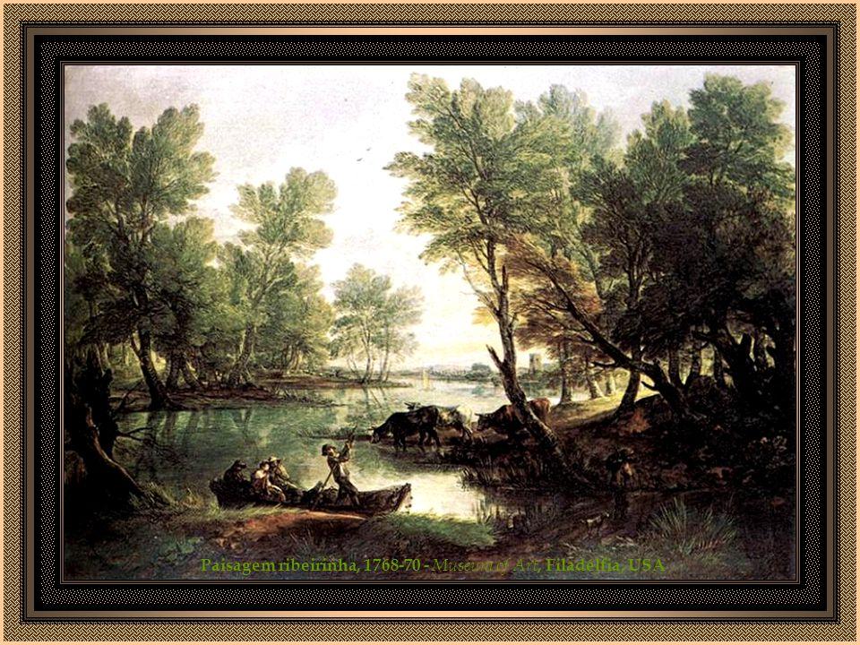 Paisagem ribeirinha, 1768-70 - Museum of Art, Filadélfia, USA