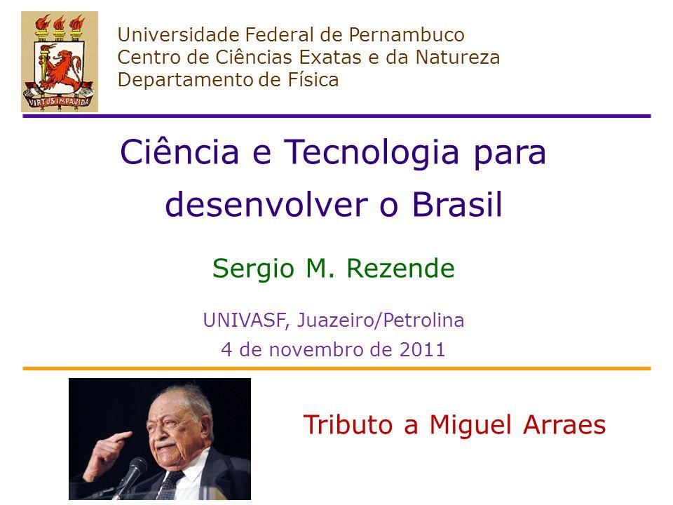 Ciência e Tecnologia para desenvolver o Brasil