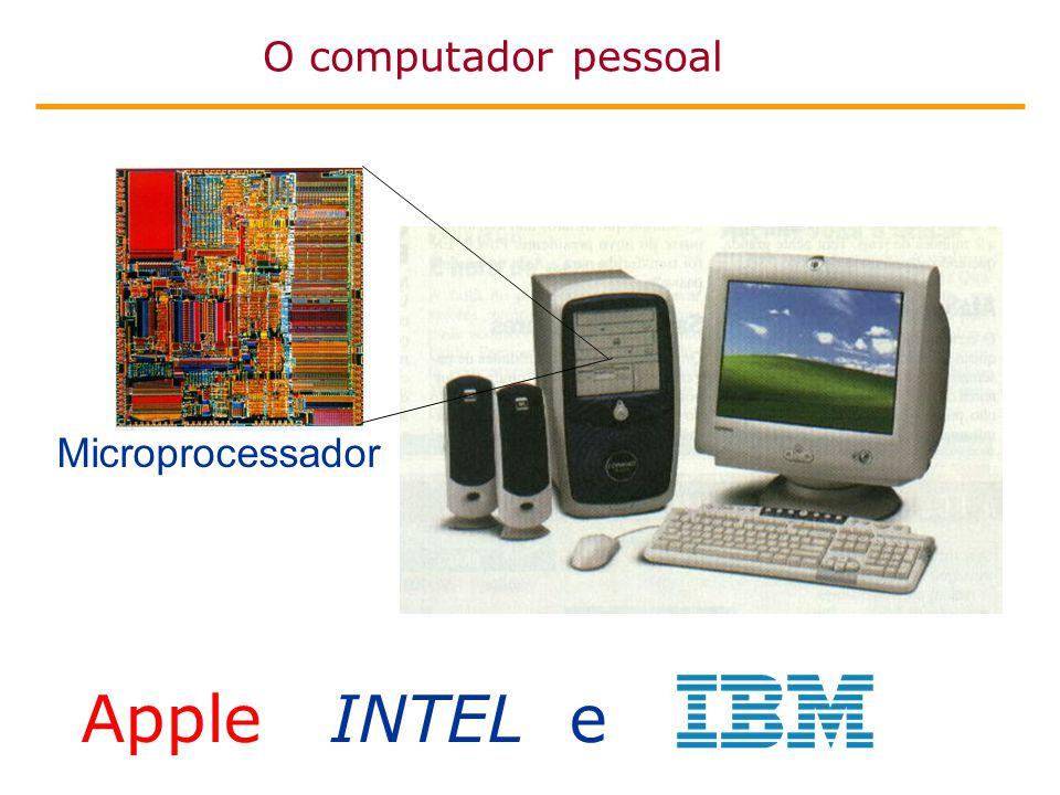 O computador pessoal Microprocessador Apple INTEL e