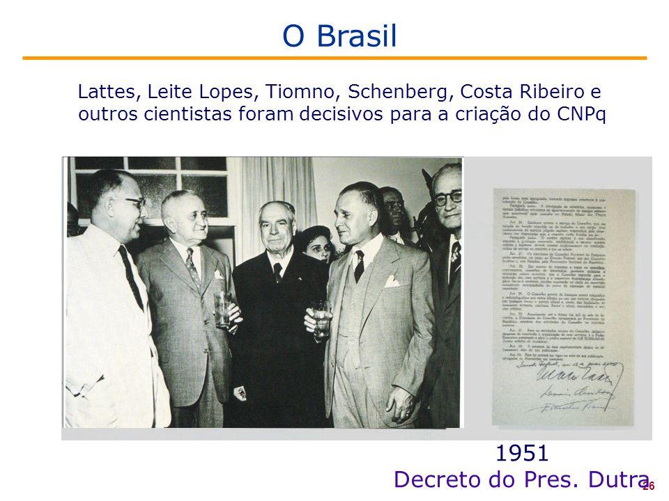 O Brasil 1951 Decreto do Pres. Dutra