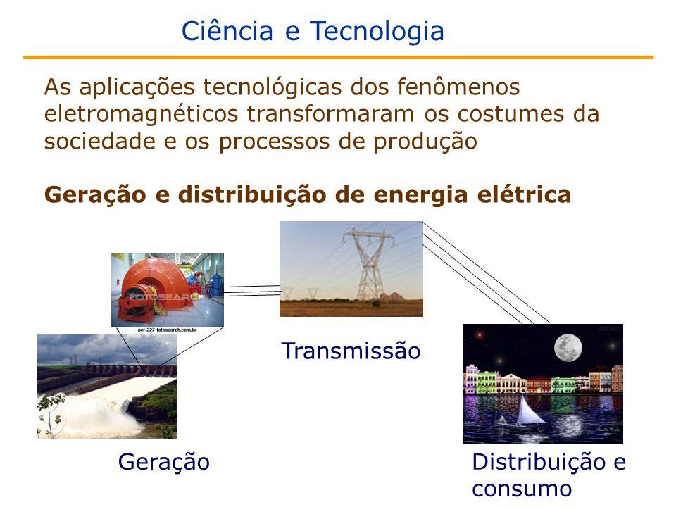 Ciência e Tecnologia As aplicações tecnológicas dos fenômenos eletromagnéticos transformaram os costumes da sociedade e os processos de produção.