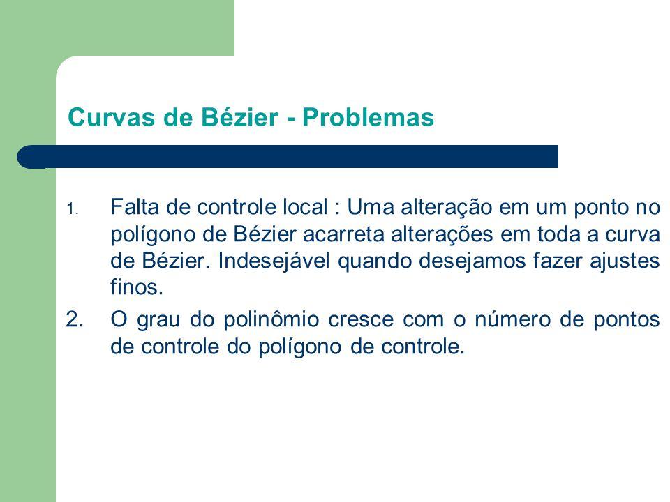 Curvas de Bézier - Problemas