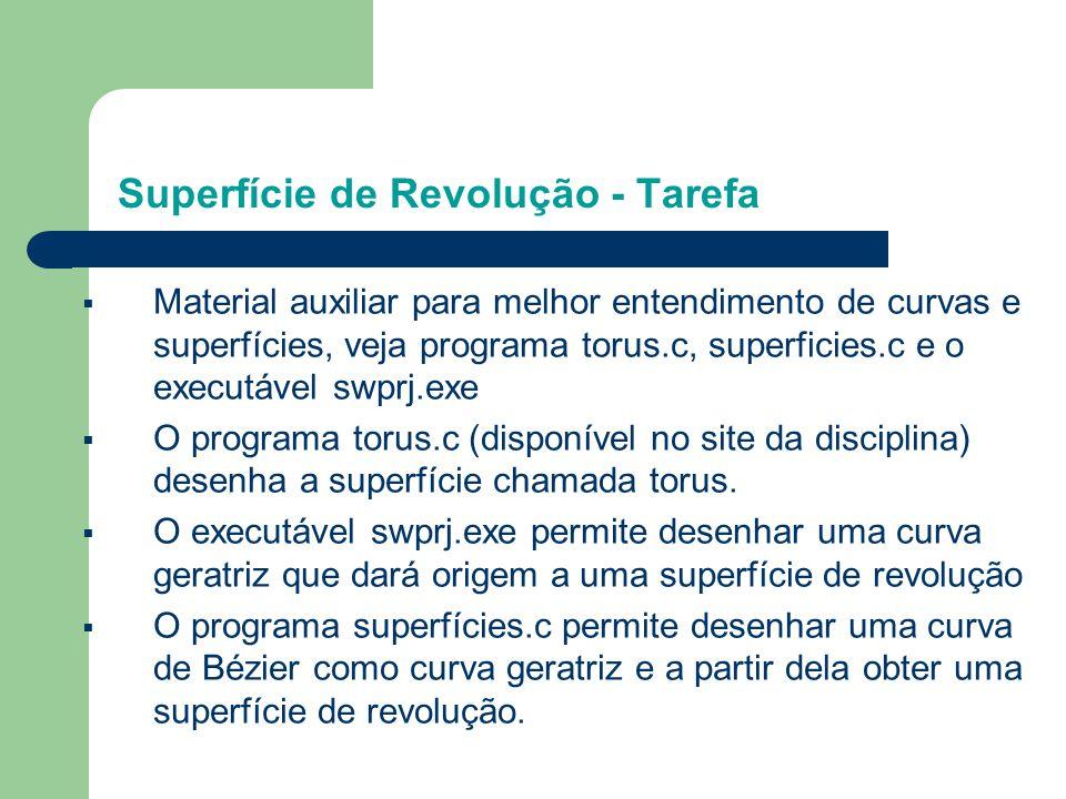 Superfície de Revolução - Tarefa