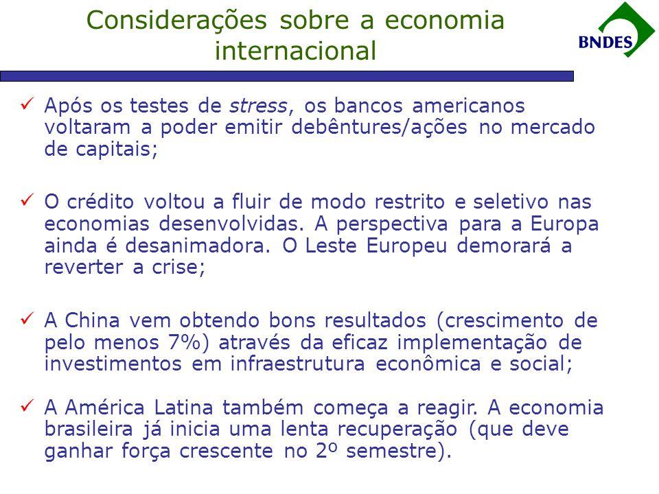 Considerações sobre a economia internacional