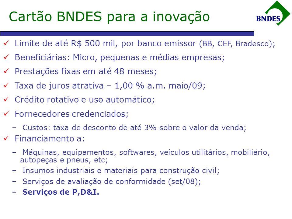 Cartão BNDES para a inovação
