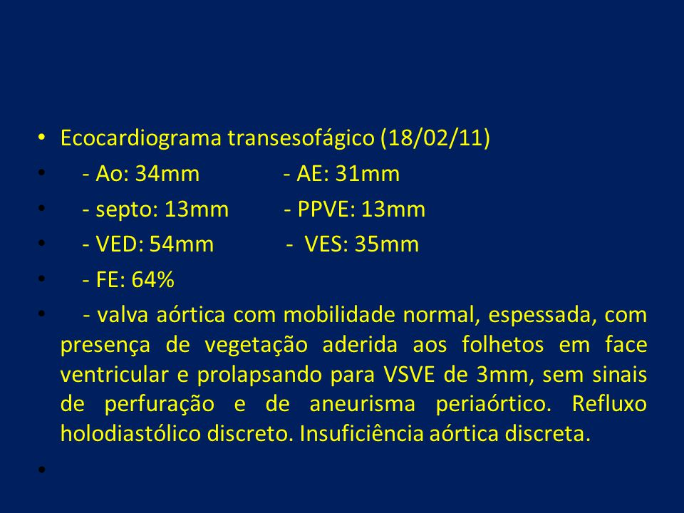 Ecocardiograma transesofágico (18/02/11)