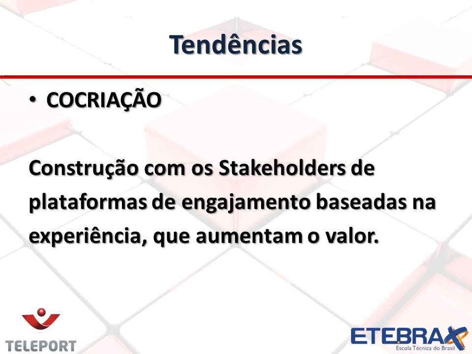 Tendências COCRIAÇÃO Construção com os Stakeholders de
