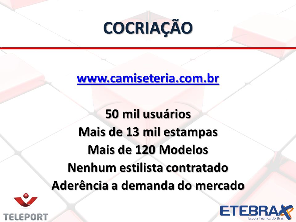 Nenhum estilista contratado Aderência a demanda do mercado