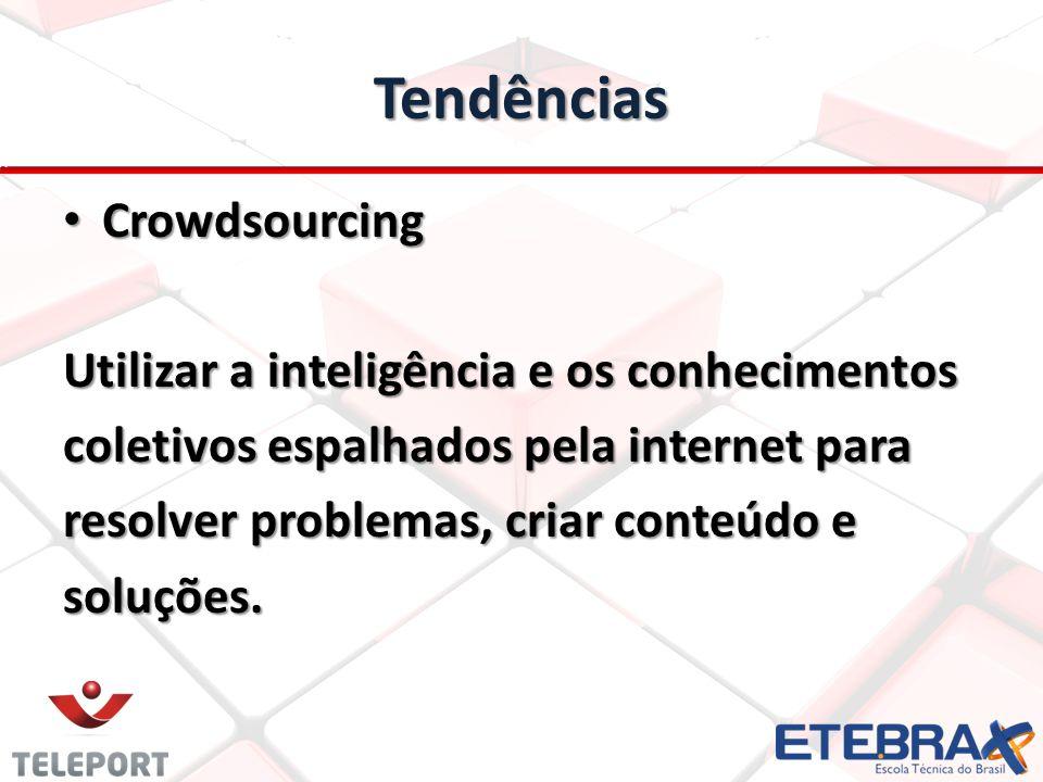 Tendências Crowdsourcing Utilizar a inteligência e os conhecimentos