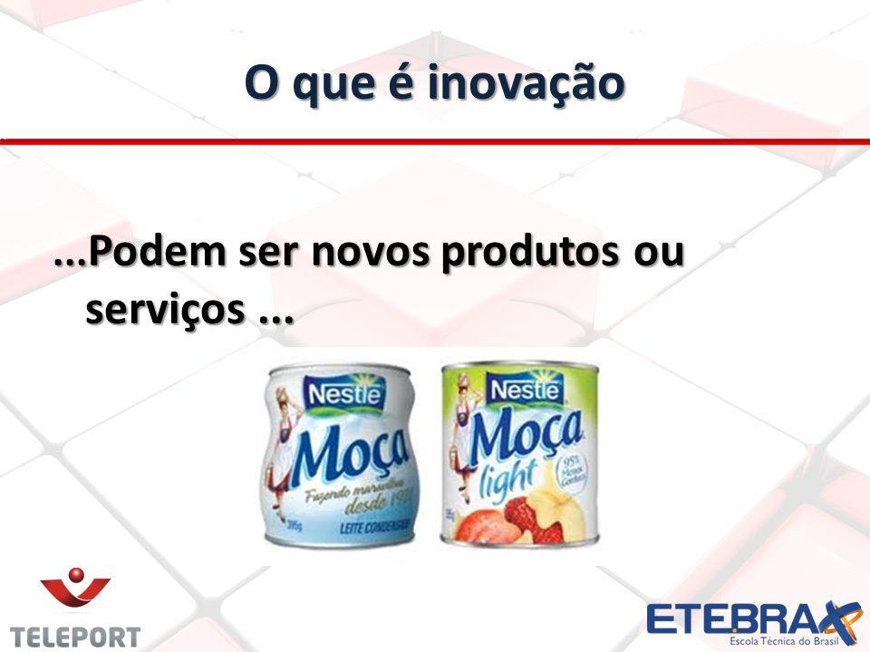 O que é inovação ...Podem ser novos produtos ou serviços ...