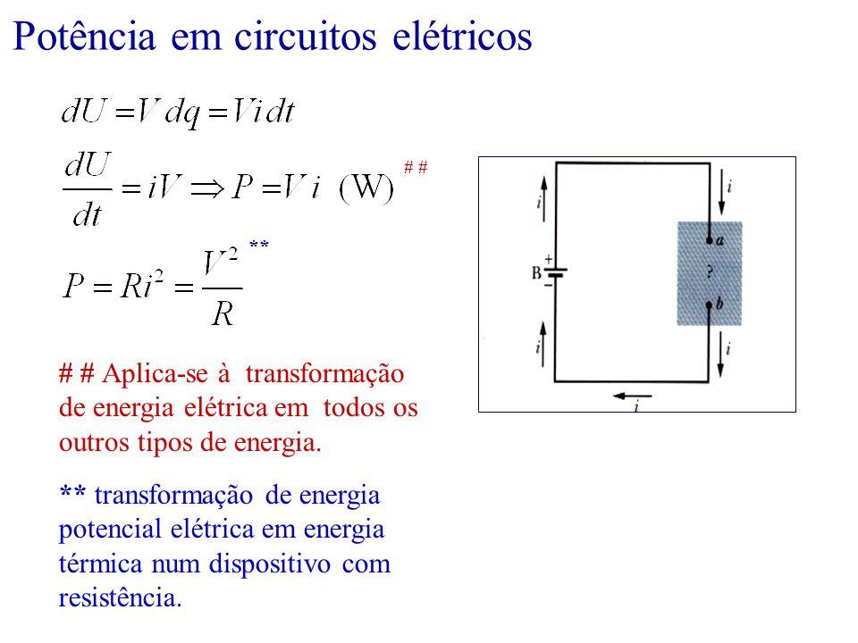 Potência em circuitos elétricos