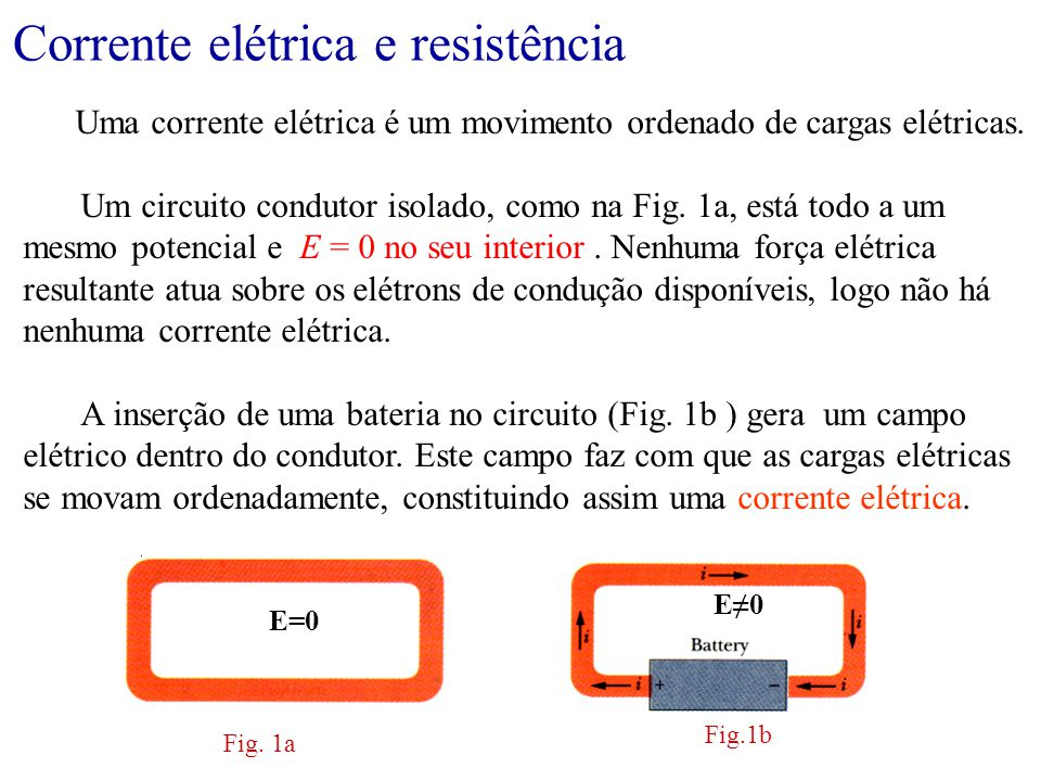 Corrente elétrica e resistência