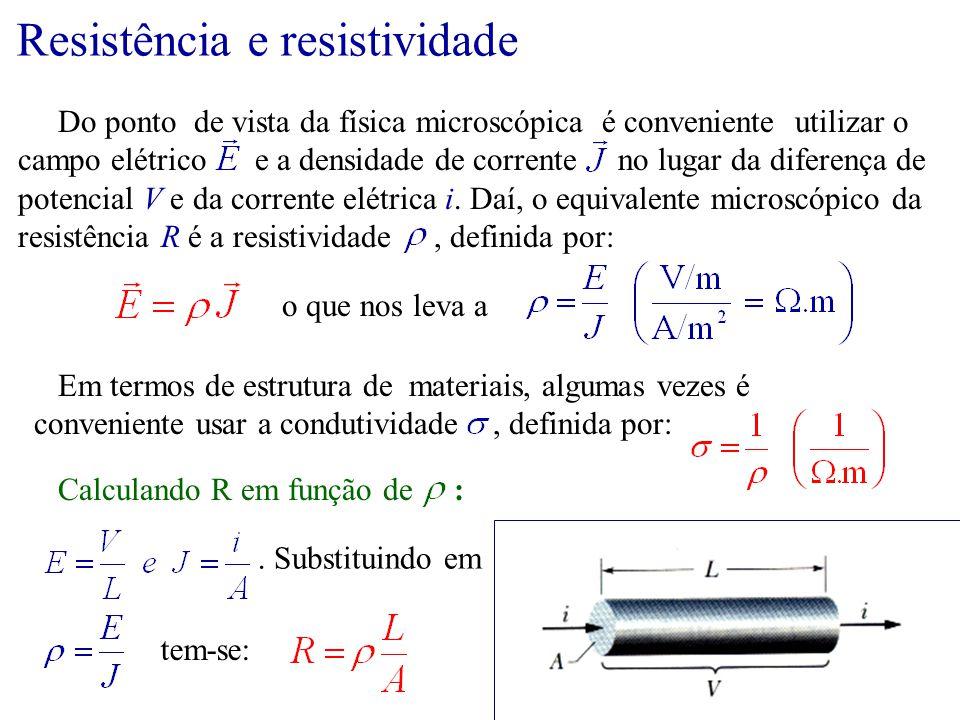 Resistência e resistividade