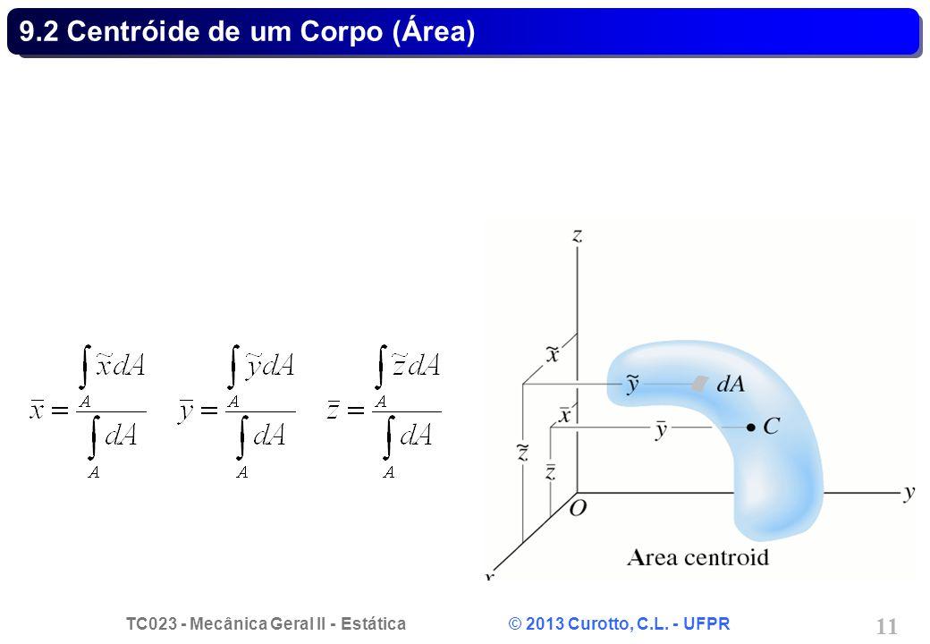 9.2 Centróide de um Corpo (Área)