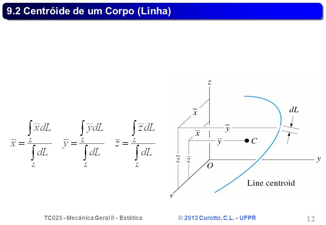 9.2 Centróide de um Corpo (Linha)
