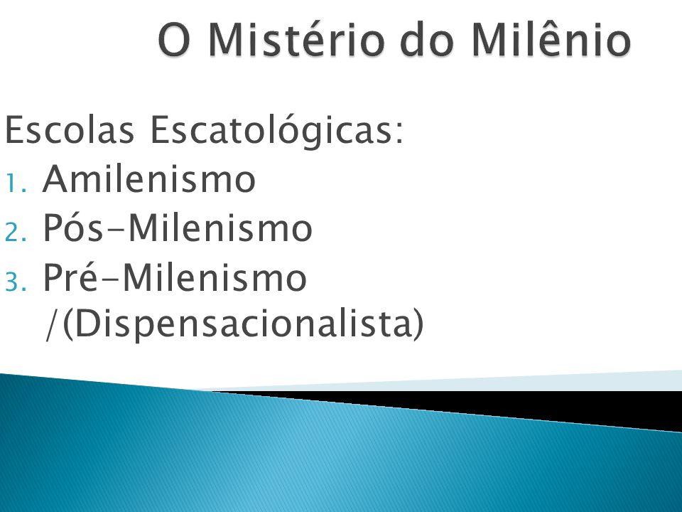 O Mistério do Milênio Escolas Escatológicas: Amilenismo Pós-Milenismo