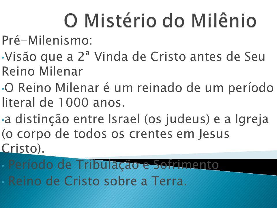 O Mistério do Milênio Pré-Milenismo: