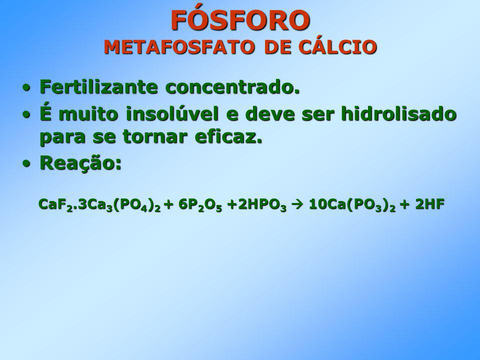 FÓSFORO METAFOSFATO DE CÁLCIO