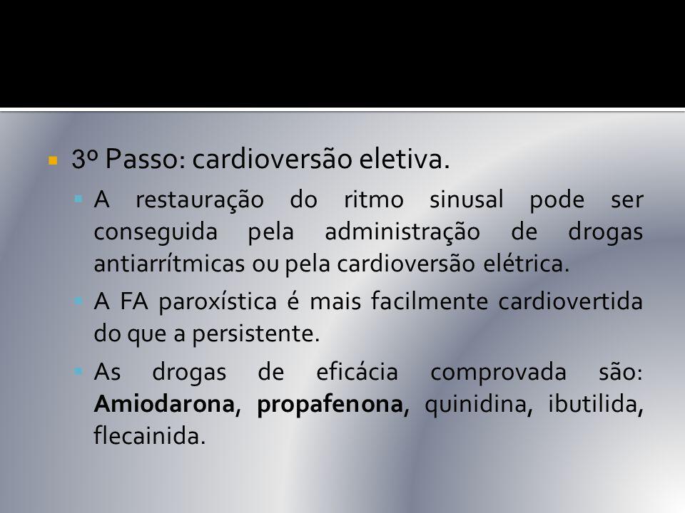 3º Passo: cardioversão eletiva.