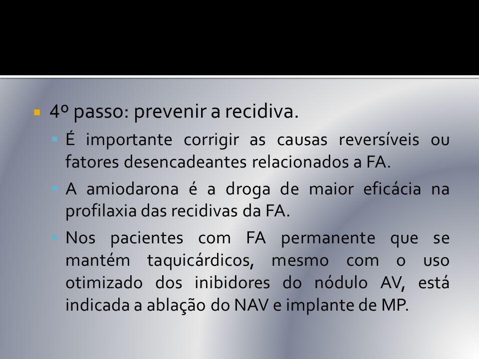 4º passo: prevenir a recidiva.