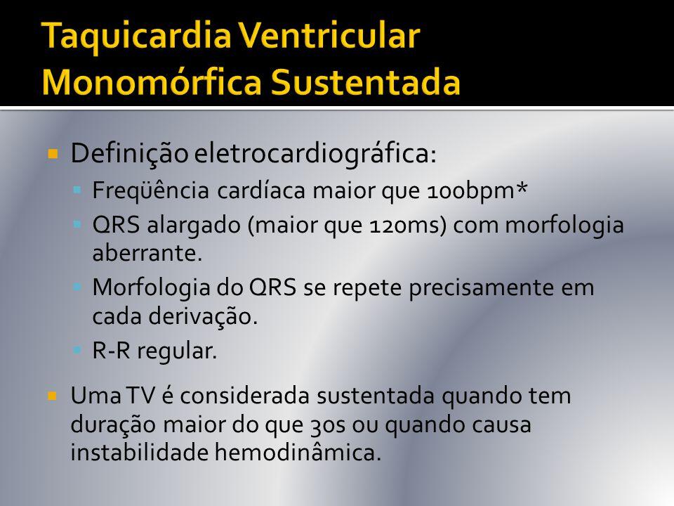 Taquicardia Ventricular Monomórfica Sustentada