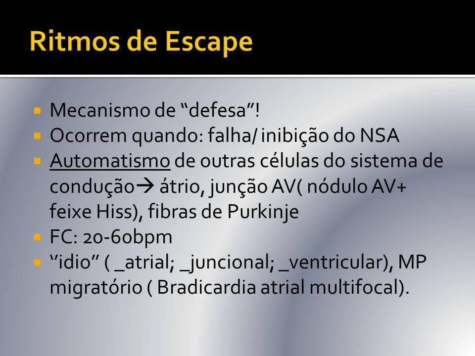 Ritmos de Escape Mecanismo de defesa !