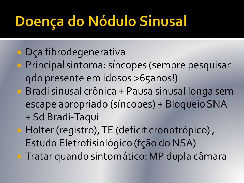 Doença do Nódulo Sinusal