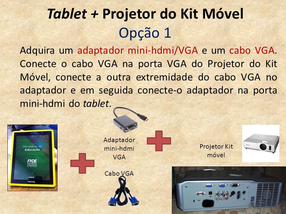 Tablet + Projetor do Kit Móvel Opção 1