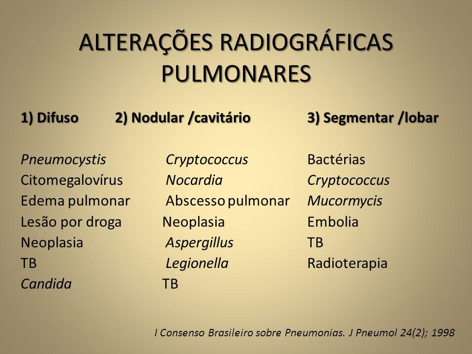 ALTERAÇÕES RADIOGRÁFICAS PULMONARES