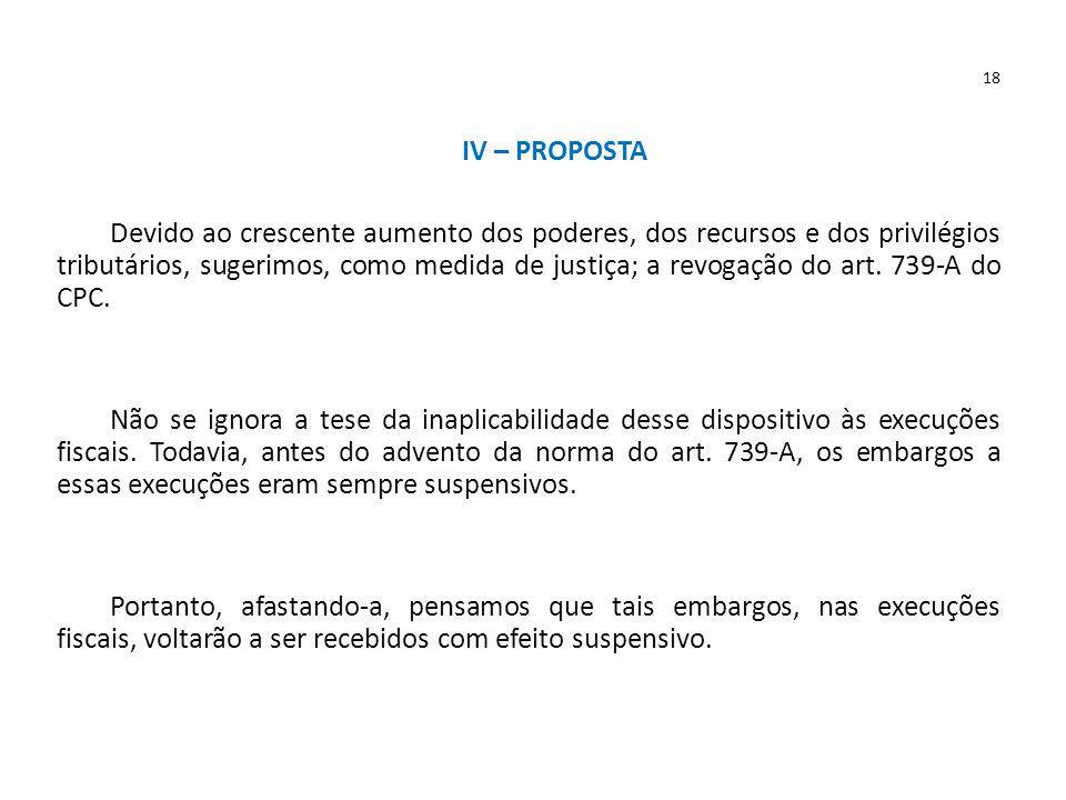18 IV – PROPOSTA.