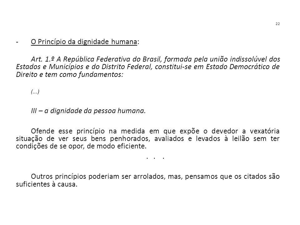 O Princípio da dignidade humana:
