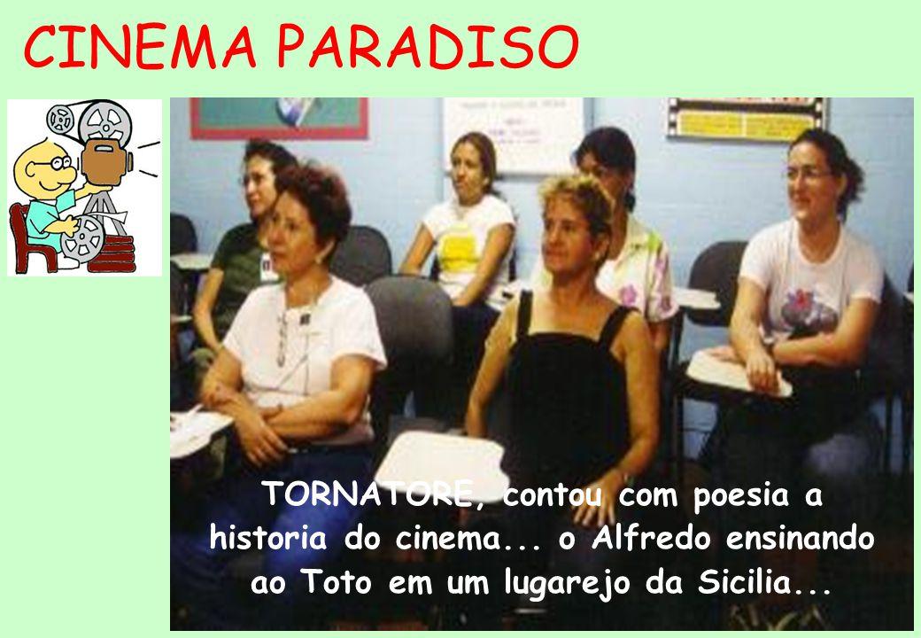 CINEMA PARADISO TORNATORE, contou com poesia a historia do cinema...