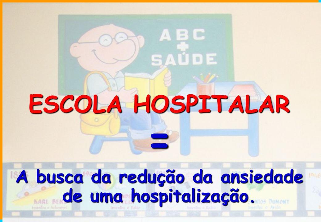 A busca da redução da ansiedade de uma hospitalização.