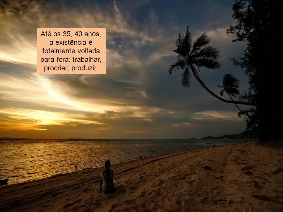 Até os 35, 40 anos, a existência é totalmente voltada para fora: trabalhar, procriar, produzir.