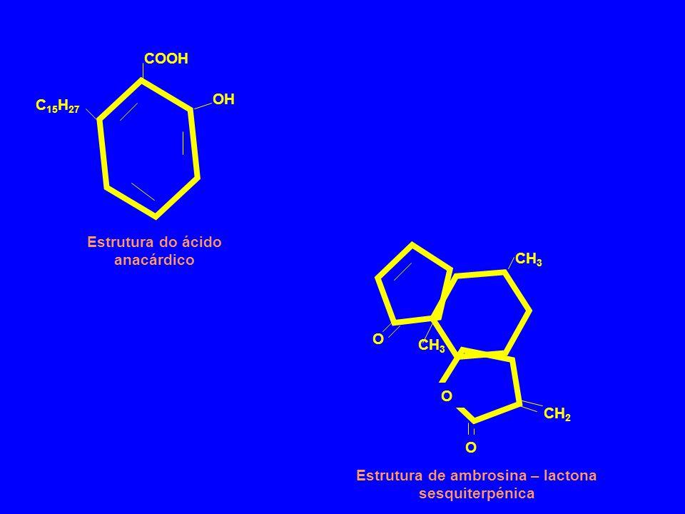 Estrutura do ácido anacárdico CH3