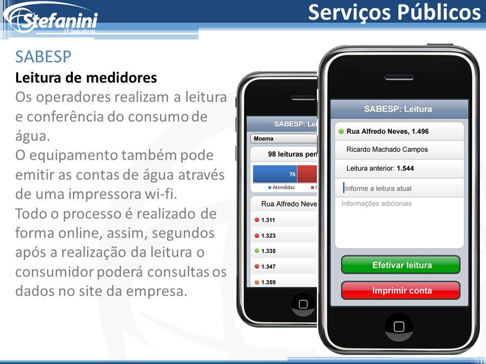 Serviços Públicos SABESP Leitura de medidores
