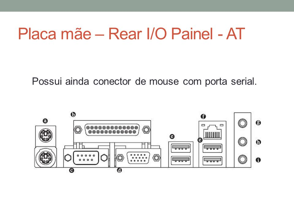 Placa mãe – Rear I/O Painel - AT