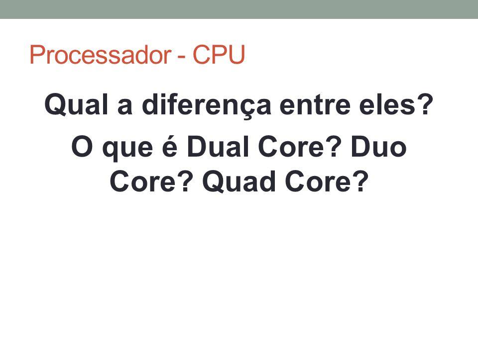 Qual a diferença entre eles O que é Dual Core Duo Core Quad Core
