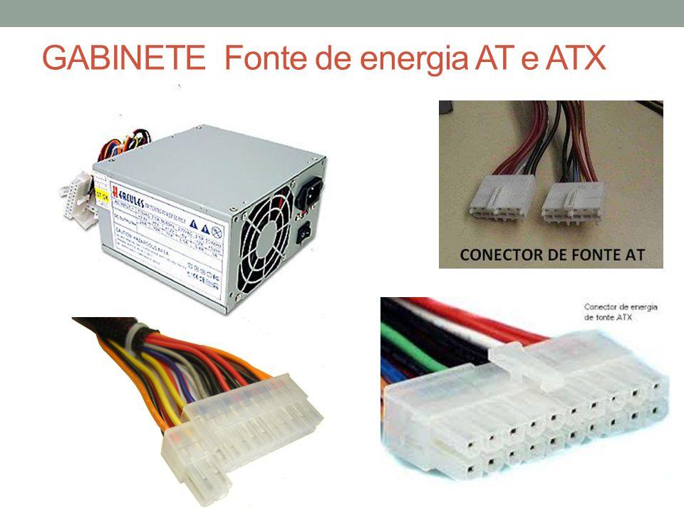 GABINETE Fonte de energia AT e ATX