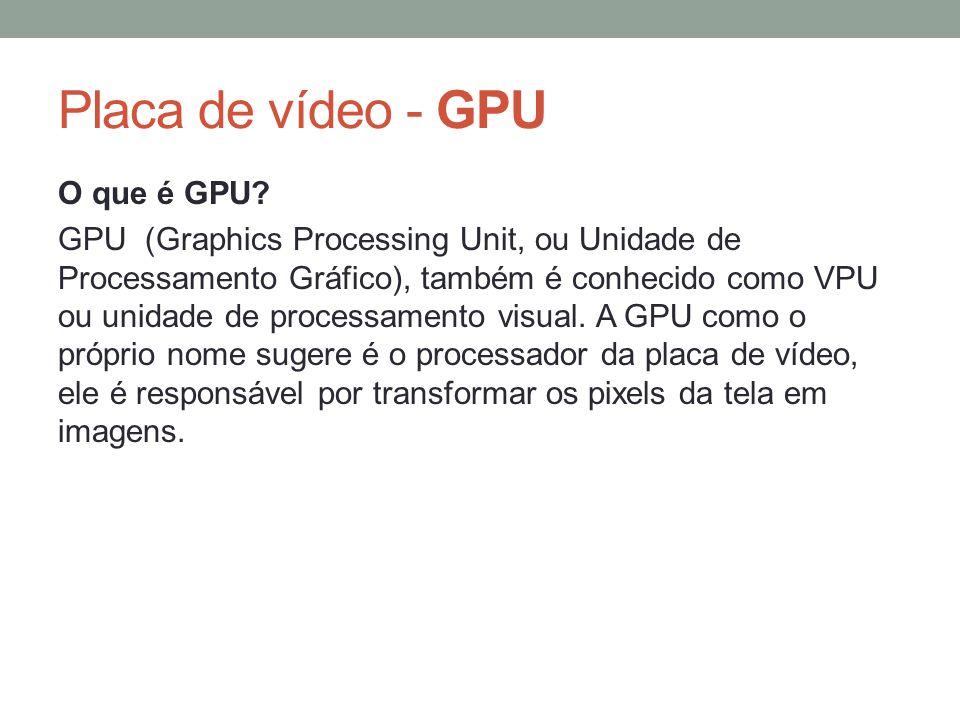 Placa de vídeo - GPU O que é GPU
