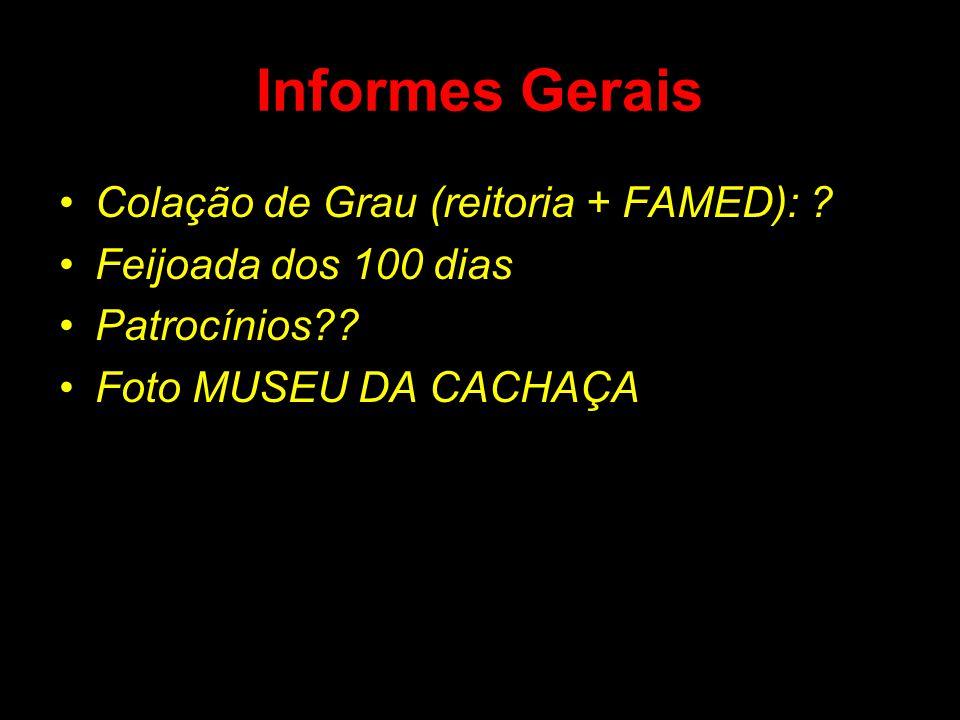 Informes Gerais Colação de Grau (reitoria + FAMED):