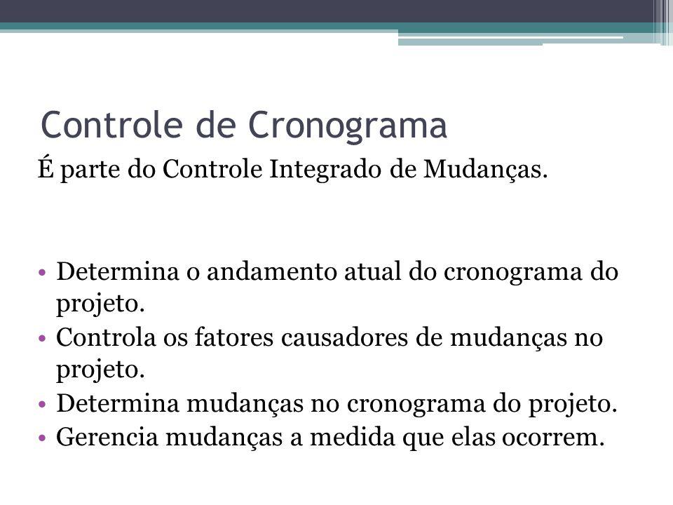 Controle de Cronograma