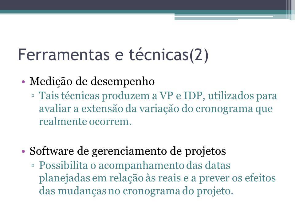 Ferramentas e técnicas(2)
