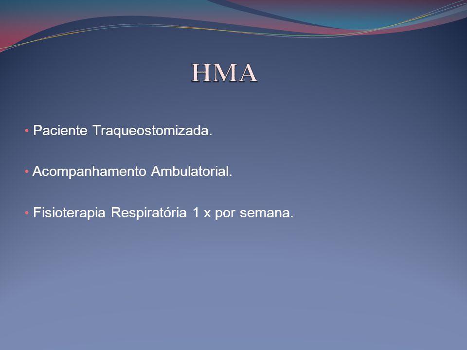 HMA Paciente Traqueostomizada. Acompanhamento Ambulatorial.