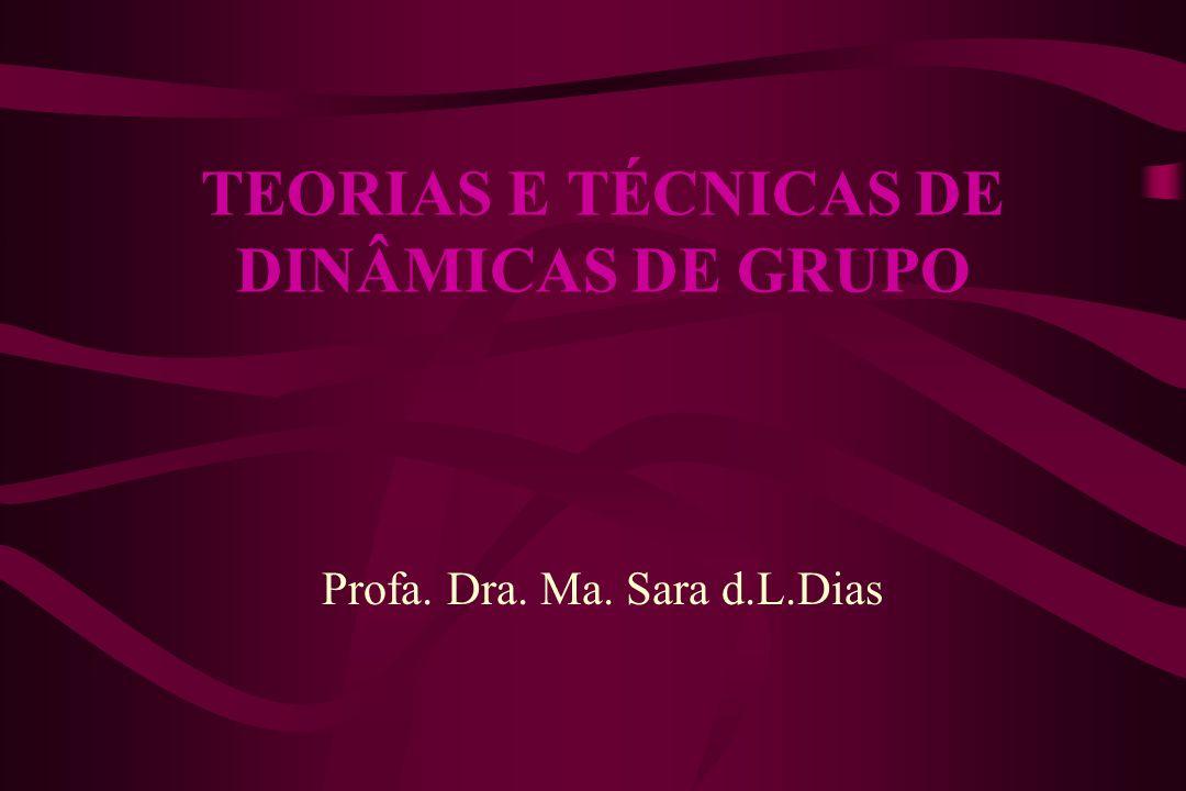 TEORIAS E TÉCNICAS DE DINÂMICAS DE GRUPO