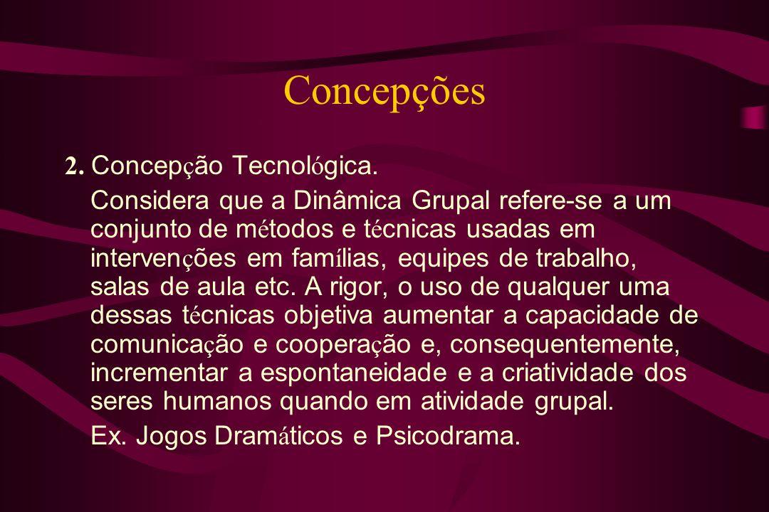 Concepções 2. Concepção Tecnológica.