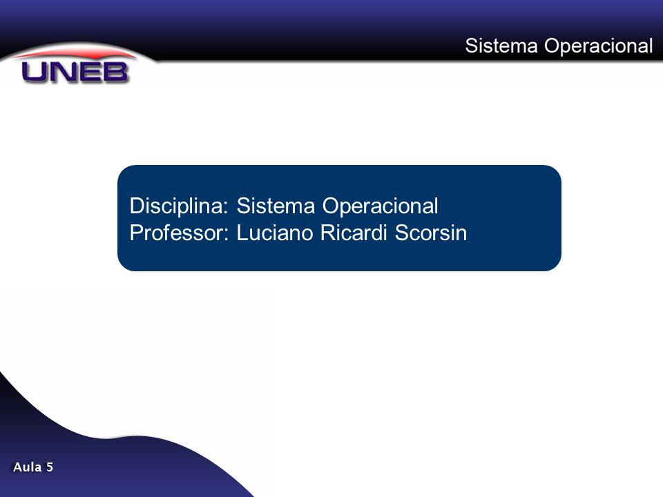Disciplina: Sistema Operacional Professor: Luciano Ricardi Scorsin