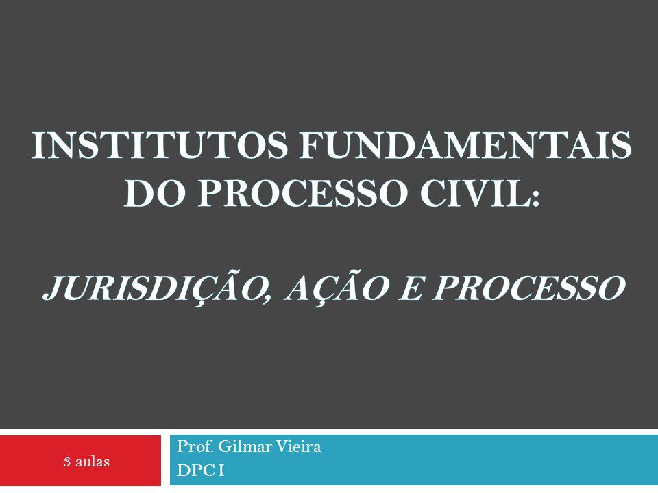 Institutos fundamentais do Processo civil: Jurisdição, Ação e Processo